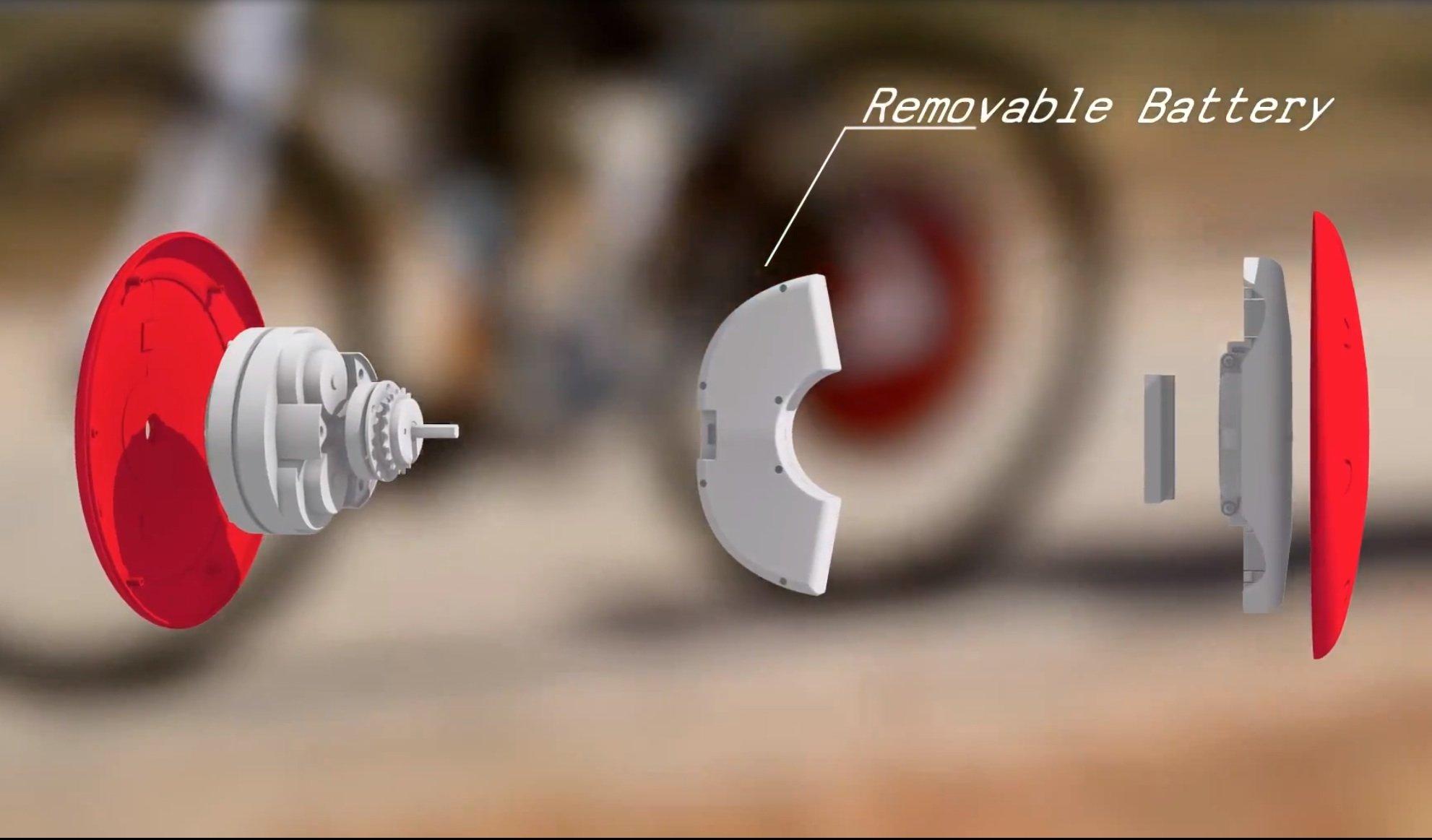 Die kompakte Bauweise des Elektroantriebes ist verblüffend: Der gesamte Bausatz lässt sich auf das Hinterrad montieren.