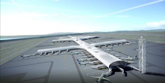 In nur fünf Jahren hat der Flughafen Shenzhen ein 1,6 Kilometer langes Terminal bauen lassen. Auf drei Stockwerken finden sich 76 Gates, 200 Check-in-Schalter und 200 Ladengeschäfte. Kostenpunkt: rund eine Milliarde Euro.