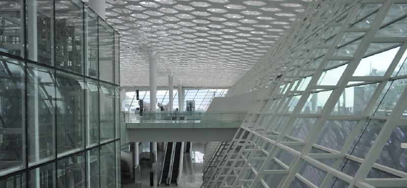Innenansicht des neuen Terminals.