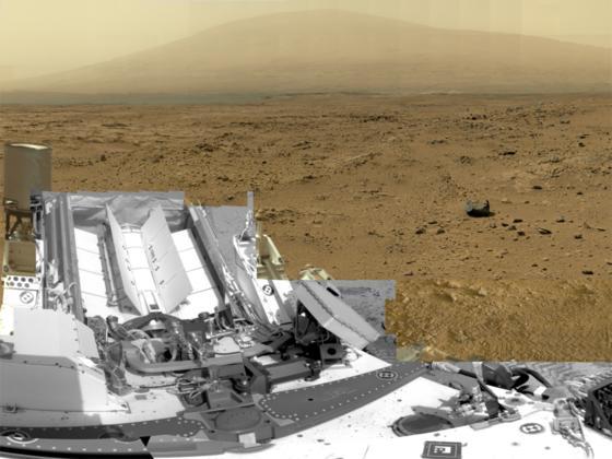 Aufnahme des NASA-Rovers Curiosity auf dem Mars: Die Strahlenbelastung auf dem Mars wurde mit einem Gerät aus Kiel ermittelt.