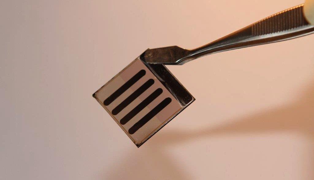Die untersuchte Solarzelle hat eine Kantenlänge von zehn Millimetern.