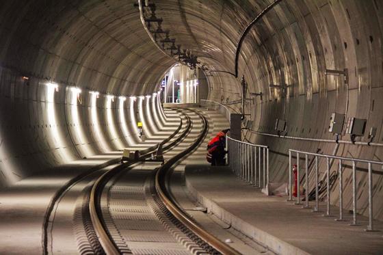 Teilstück des Leipziger City-Tunnels.