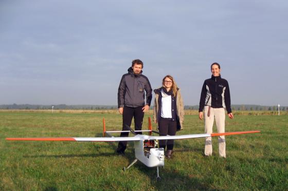Leicht und preiswert: Das Flugzeug Aladina soll Partikel in Wolken untersuchen helfen. Das Flugzeug hat für Messgeräte eine Nutzlast von 2,2 kg und erreicht Flughöhen von bis zu 1000 Metern.