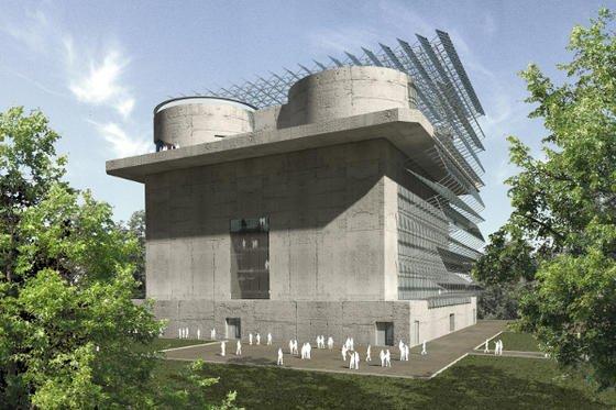 So wird der Hamburger Energiebunker nach seinem Umbau aussehen.