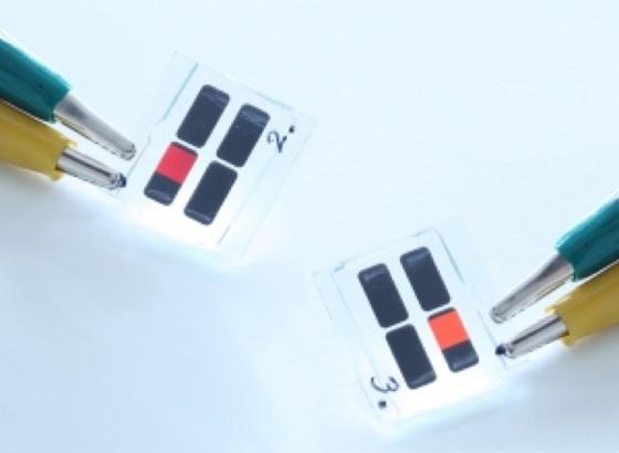 Flüssigprozessierte SiLEDs: Die Änderung der Größe der Silizium-Nanokristalle ermöglicht es, die Farbe des ausgesandten Lichts zu variieren.