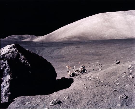 Im Mondgestein wurde im Rahmen der Apollo-17-Mission Wasser entdeckt.