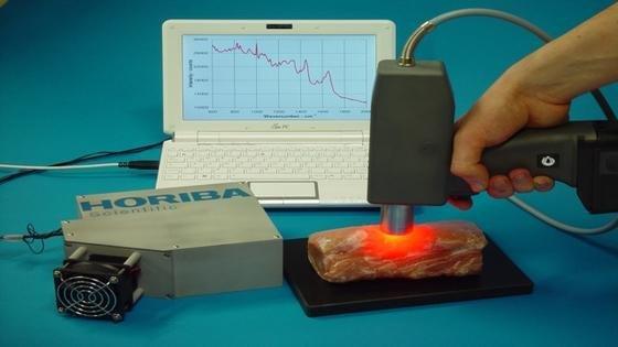 Mit der von Physikern der TU Berlin entwickelten Laserpistole kann sekundenschnell festgestellt werden, von welchem Tier das gerade geprüfte Fleisch stammt und wie alt es ist.