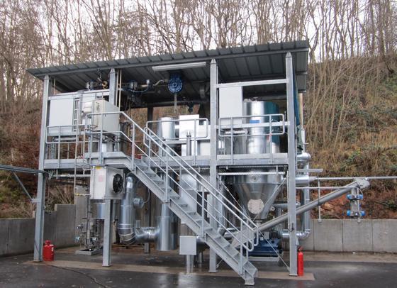 Mit der IFF-Pilotanlage lassen sich in Gerstungen Entsorgungs- und Energiekosten einsparen.