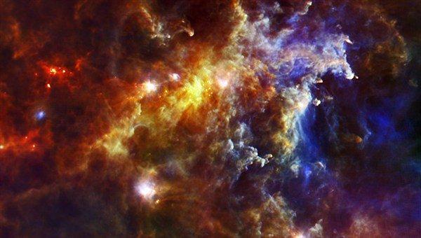Ein Herschel-Blick durch Staub und Sterne.