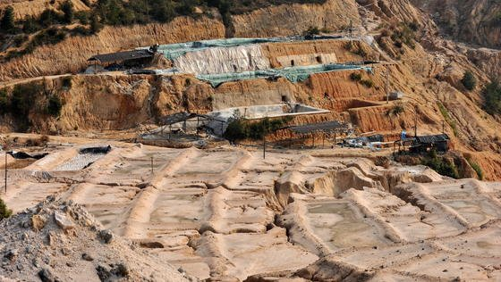 Tagebau für Seltene Erden im chinesischen Ganxian.