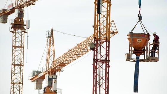 Gute Wachstumsprognosen für die Bauindustrie.