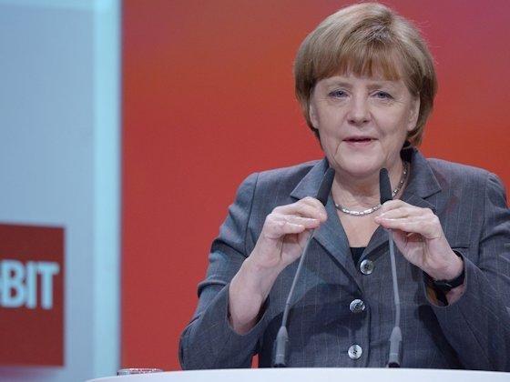 """Angela Merkel, Bundeskanzlerin: """"Alleine durch Automobile und Maschinenbau wächst Europa nicht."""""""