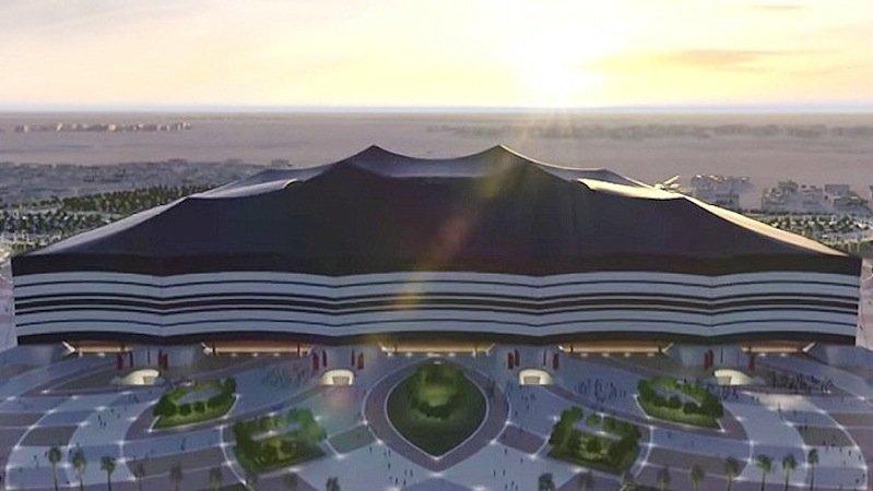 Das Stadion Al-Bayt ist modular aufgebaut. Teile sollen nach der WM abgebaut und an Entwicklungsländer gespendet werden.