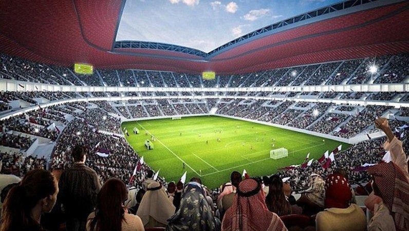 Bei der WM 2014 in Brasilien stehen zeitweise sogar die Zuschauer von ihren Plätzen auf, um in den Schatten zu fliehen. Klimatechnik soll in Katar für angenehme Temperaturen im Inneren des Stadions sorgen.