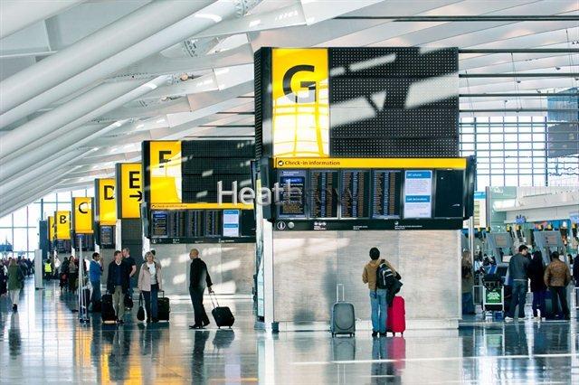 Flughafen Heathrow in London: Offene und versteckte Kameras nehmen auf den britischen Flughäfen sämtliche Passanten auf.