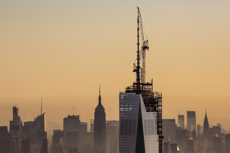 Spitze des neuen One World Trade Centers in New York: Der Beton des Gebäudes wurde im hessischen Mörfelden-Walldorf erprobt.