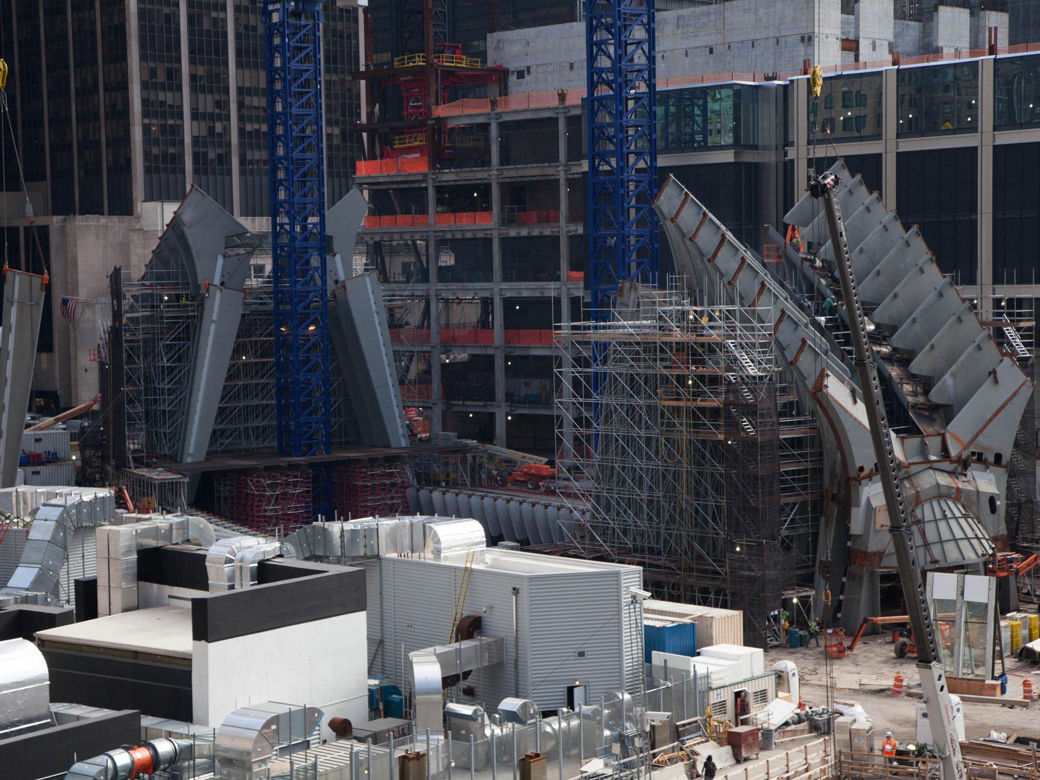Baustelle des neuen One World Trade Centers in New York: Der Beton des vierthöchsten Hochhauses der Welt wurde nach einem deutschen Verfahren entwickelt. Dadurch kann er Explosionen besser überstehen.