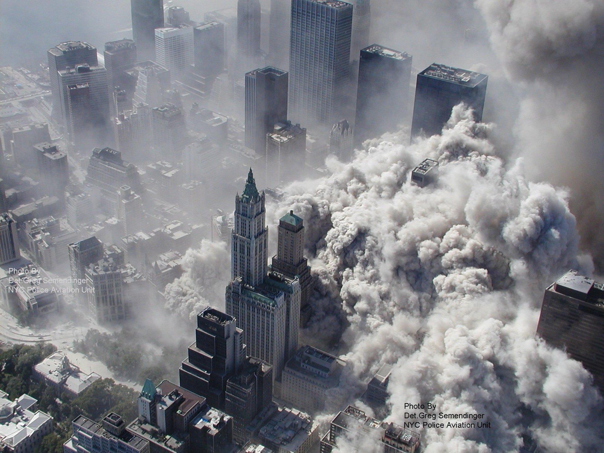 Zerstörung des World Trade Centers am 11. September 2001 in New York.