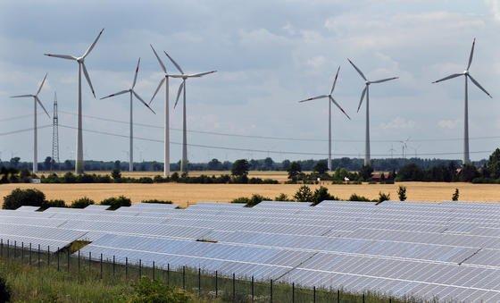 Grüner Strom auf dem Vormarsch: Erstmals wurde im ersten Halbjahr 2014 mehr Strom aus grünen Energiequellen produziert als aus Braunkohle, dem bisherigen Hauptlieferanten.