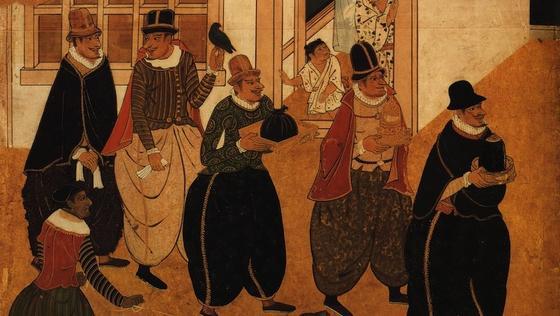 Im 16. Jahrhundert verzierten japanische Künstler den Hintergrund ihrer Namban-Wandschirme mit Blattgold. Die Schichten waren nur 100 Nanometer dick. Dünner lässt sich Blattgold heute auch mit modernsten Maschinen kaum herstellen.