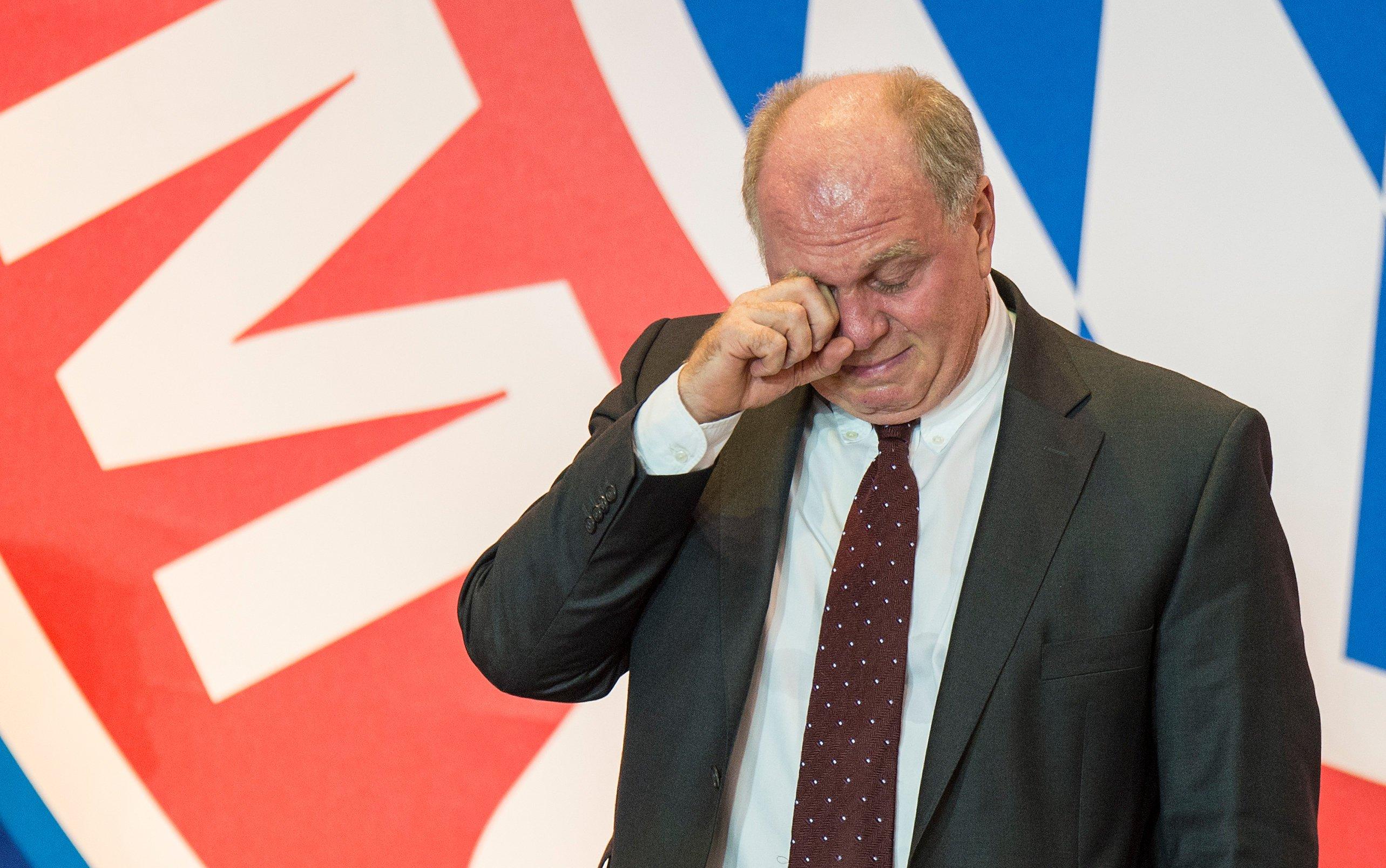 Uli Hoeneß, Ex-Fußballfunktionär und -Spieler: Anlässe zum Weinen gibt es viele. Welchem biologischen Zweck es dient, Tränen zu vergießen, ist aber wissenschaftlich noch weitgehend ungeklärt.