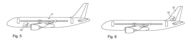 Da das neue Cockpit keine Fenster benötigt, findet es fast überall im Flugzeug Platz – beispielsweise im Laderaum oder im Heck.