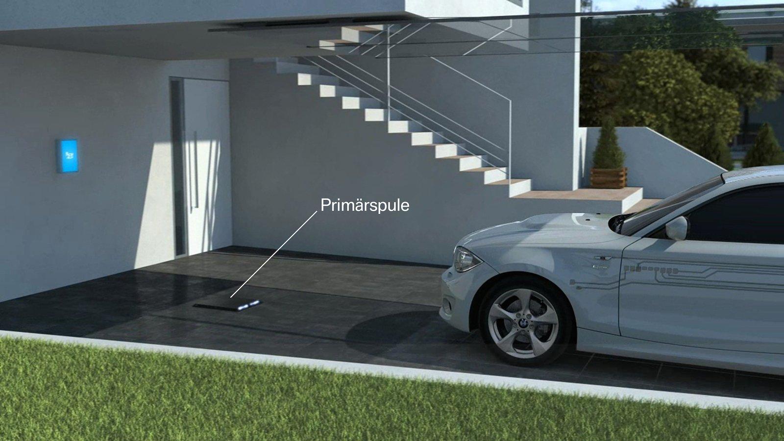 Die Primärspule für das kabellose Aufladen von Elektroautos wird im Boden installiert.