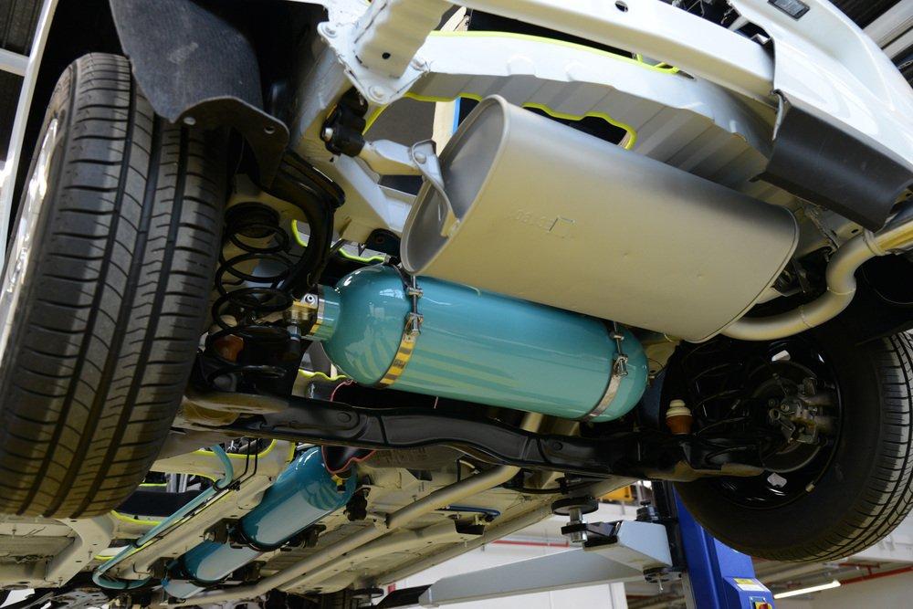 Hybrid-Air-Technologie von unten betrachtet.