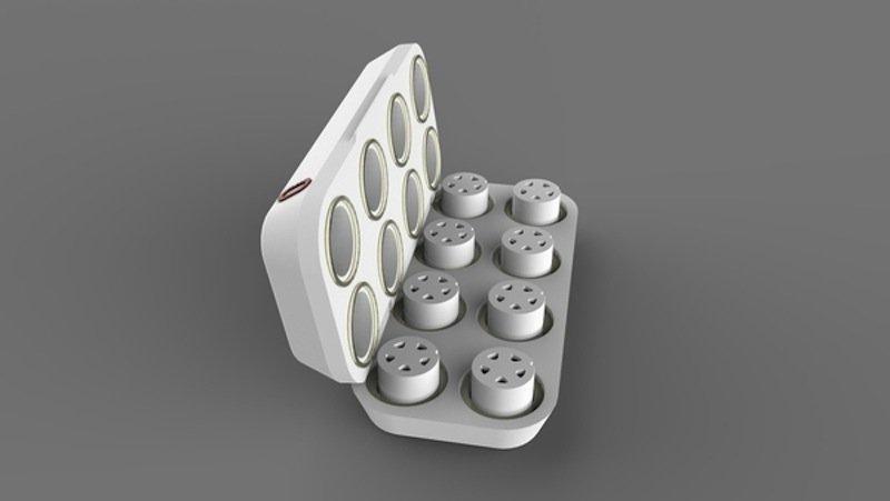 Das oPhone enthält acht Kartuschen mit jeweils vier Aromen. Mit insgesamt 32 Aromen lassen sich rund 300.000 Gerüche generieren.