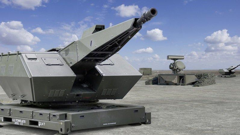 Rheinmetall baut auch das Oerlikon Skyshield, ein Allwetter-Nahbereichs-Flugabwehrsystem.