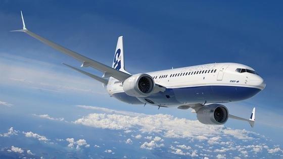 Der Mittelstreckenjet 737 Max von Boeing: Der Treibstoffverbrauch liegt angeblich13 Prozent unter dem der Konkurrenz. Zum Einsatz kommen sogenannteLEAP-1B-Triebwerke.