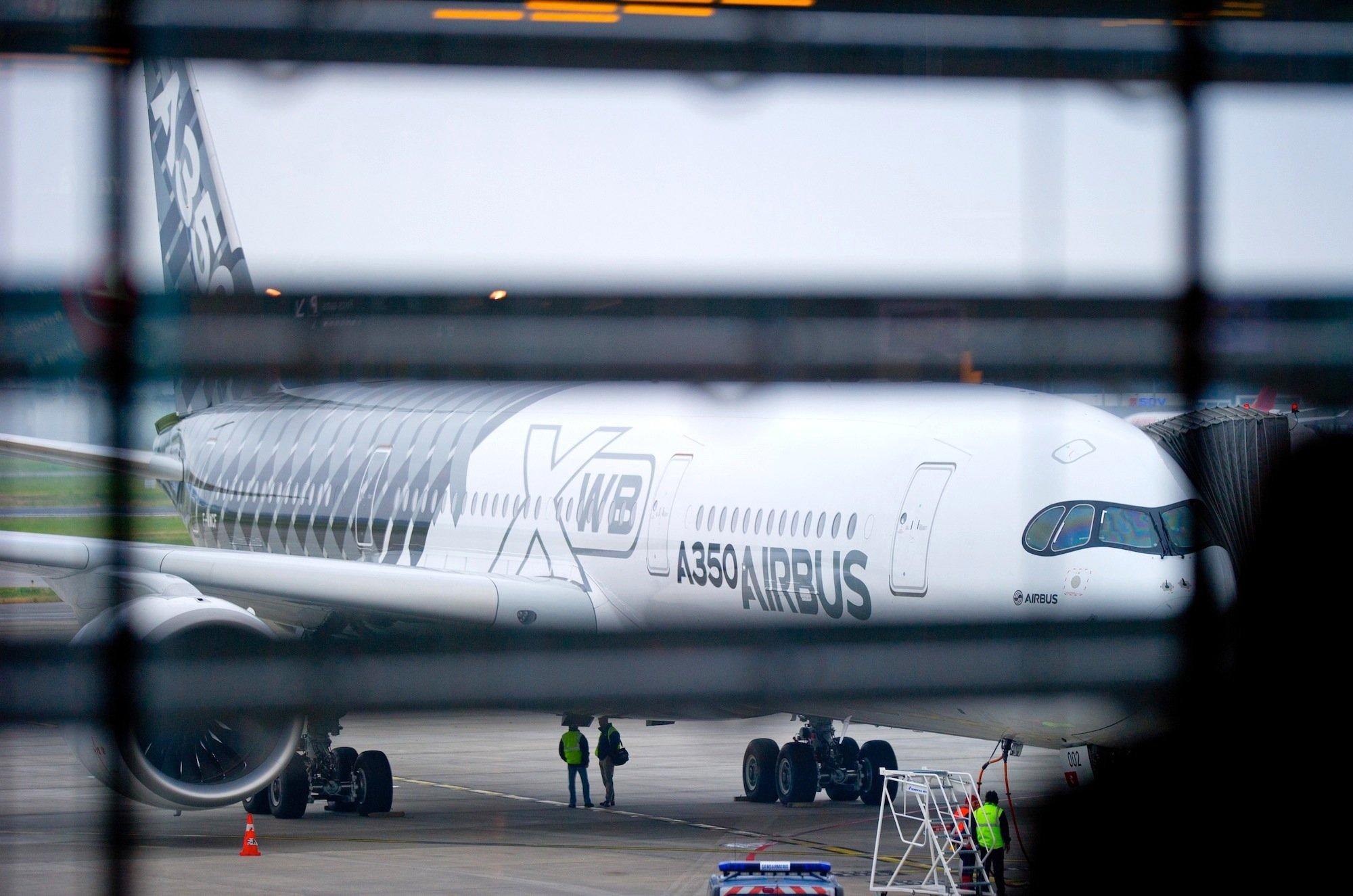 Airbus zeigt auf der Luftfahrtschau in Farnborough unter anderem denbrandneuen A350 XWB.