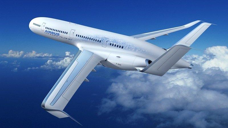 Noch ist es reine Theorie: das Concept Plane von Airbus. Der Flugzeughersteller verfolgt aber eifrig seine Vision von einem umweltschonenden Flugverkehr.