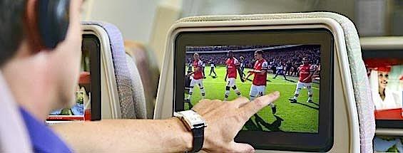 Emirates-Passagiere zählten zu den Glücklichen, die die Fußball-Weltmeisterschaft in Brasilien in Echtzeit an Bord mitverfolgen konnten.