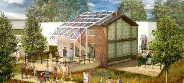 """Für den Entwurf """"Prêt-à-Loger"""" haben die Studenten der technischen Universität in Delft das komplette Reihenhaus der Großeltern eines Teammitglieds rekonstruiert und beispielhaft eine solar-energetische Sanierung demonstriert."""