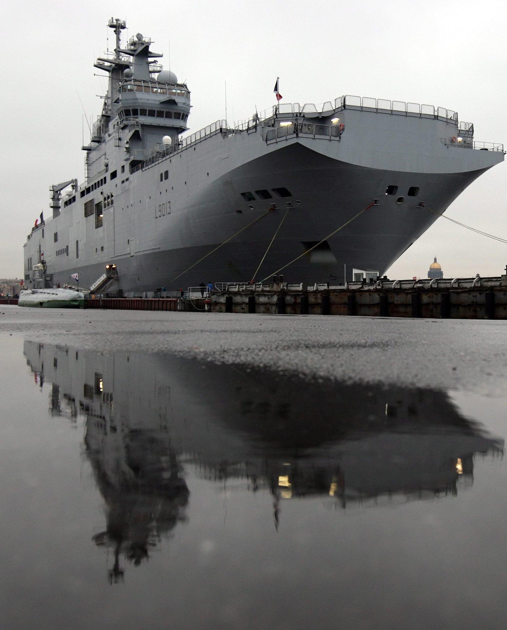 Vier solcher Schiffe der Mistral-Klasse hat Russland in Frankreich bestellt. Die Hubschrauber-Träger stehenfür militärische Hochtechnologie.