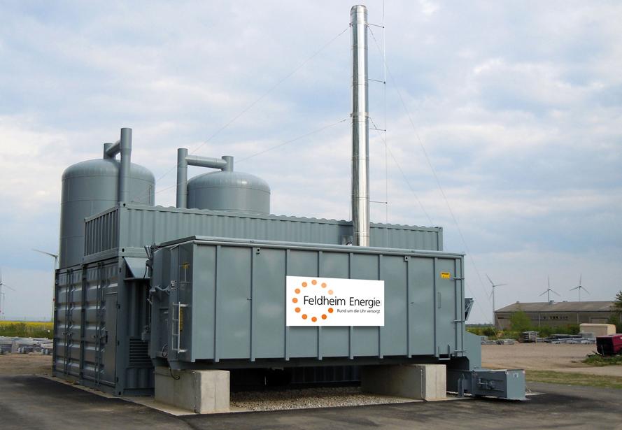 Feldheim verfügt auch über ein eigenes Wärmeverteilzentrum mit einer Gesamtanschlussleistung von 1600 Kilowatt.