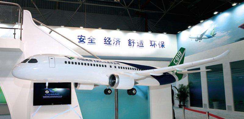 C919: Der chinesische Flugzeughersteller Comac zählt ebenfalls zu den Abnehmern, der von General Electrics Aviation demnächst mit 3D-Drucktechnik produzierten Triebswerkskomponenten.