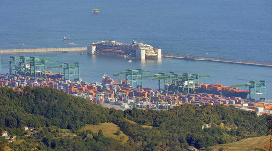 Technische Meisterleistung Die Costa Concordia Hat Genua