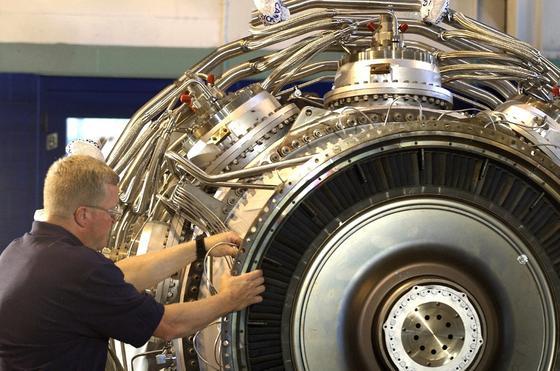 Gasturbine von Rolls-Royce: Siemens will die Sparte übernehmen.