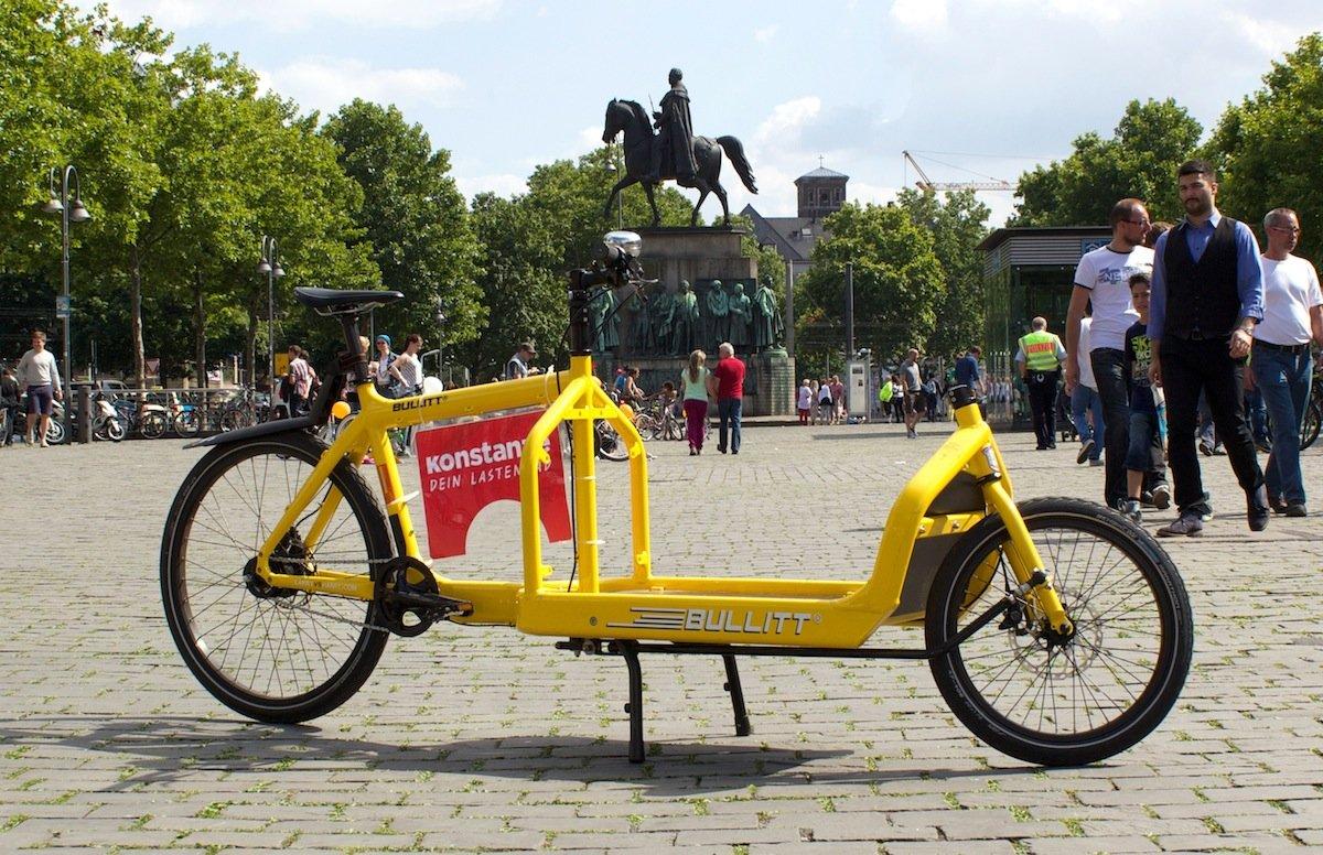 Lastenrad Konstanze in Köln: Gemeinsam mit dem AStA der Uni Köln wird das Rad in Köln betrieben und kann für Transporte ausgeliehen werden.