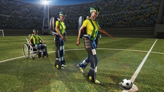 Ein gelähmter Jugendlicher wird in einem Exoskelett den Anstoß zur Fußball-WM 2014 machen. Multisensoren erfassen seine Gehirnströme, die in Bewegungsbefehle für die Mechanik übersetzt werden. Dank Sensoren soll er den Ball sogar spüren können.