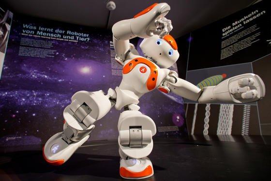 Der humanoide Roboter Nao ist knapp 60 Zentimeter groß, wiegt fünf Kilogramm und hat zwei HD-Kameras als Augen. Sein Schöpfer ist der französische Roboterhersteller Aldebaran Robotics.