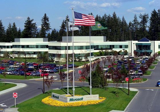 Hauptsitz von Microsoft in Redmond, einem Vorort von Seattle im US-Bundesstaat Washington: Nach Auffassung Microsofts sind E-Mails Privateigentum und verfassungsmäßig geschützt. Doch das Gericht stufte sie als Geschäftsunterlagen des Konzerns ein.