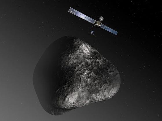 Seit zehn Jahren ist Rosetta auf ihrem Weg zum Kometen Tschuri. Fast 1000 Tage verbrachte sie im schonenden Winterschlaf.