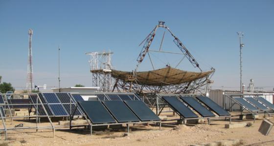 Auf einem Teststand in der Wüste Negev in Israel sammeln die Forscher Daten über ultraviolette Strahlung. Im Labor können sie bei Belastungstests dann mit der richtigen Dosis arbeiten.