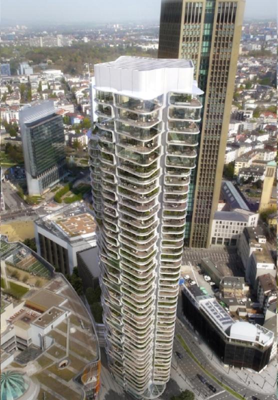 Entwurf des Wohnturms Tower 2: Für das Design zeichnet Magnus Kaminiarz & CIE verantwortlich. Die Architekturgesellschaft aus Frankfurt gewann den Wettbewerb der Berliner Projektentwicklungsfirma gsp.