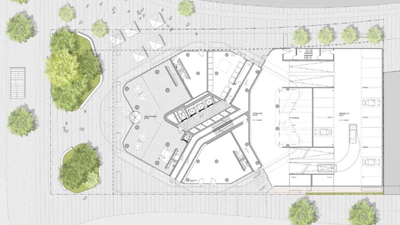 Grundriss des Towers 2: Auf einer Bruttogeschossfläche von 44.000 Quadratmetern sind 340 Wohnungen geplant.