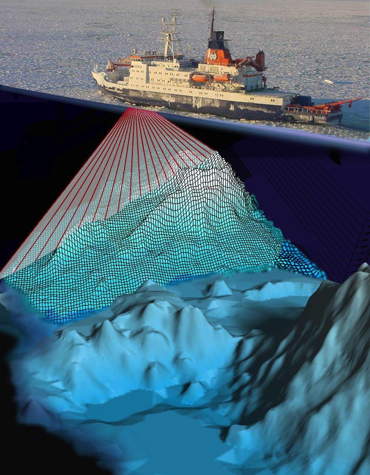 Das Forschungsschiff Polarstern hatte 1990 mit seinem Fächersonarsystem die Oberfläche des Meeresbodens vor Grönland erfasst. Die riesigen Kratzspuren der Eisberge wurden erst jetzt entdeckt.