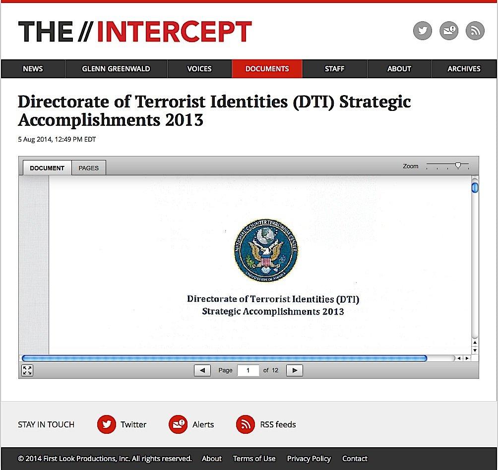 Der Journalist Gleen Greenwald hat auf seiner Internetseite The Intercepts enthüllt, dass besonders viele auch unbescholtene Bürger auf der Terroristen-Liste der Geheimdienste stehen.